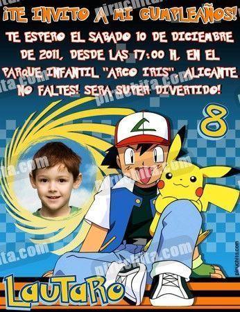 Invitación cumpleaños Pokemon #01-0