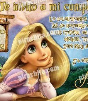 Invitación cumpleaños Enredados #07-0