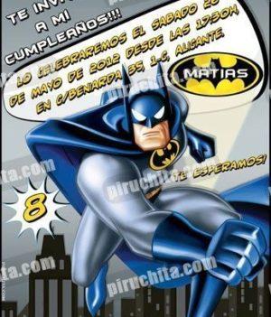 Invitación cumpleaños Batman #04-0