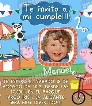Invitación cumpleaños Peppa Pig #04-0