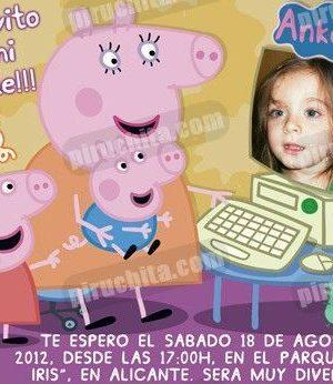 Invitación cumpleaños Peppa Pig #05-0