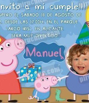 Invitación cumpleaños Peppa Pig #02-0
