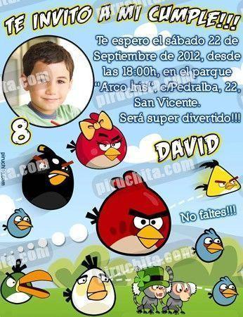 Invitación cumpleaños Angry Birds #04-0