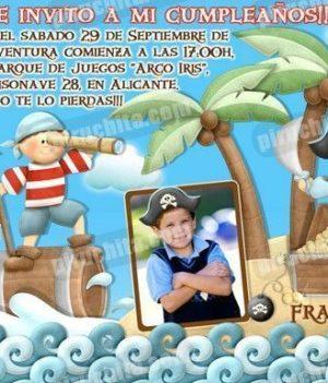 Invitación cumpleaños Piratas #04-0