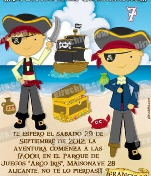 Invitación cumpleaños Piratas #07-0