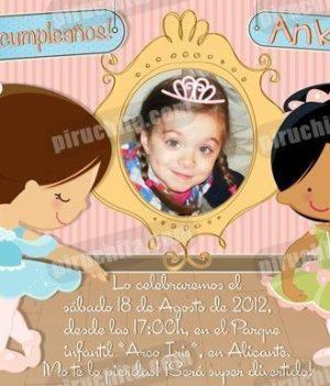 Invitación cumpleaños Ballet #03-0