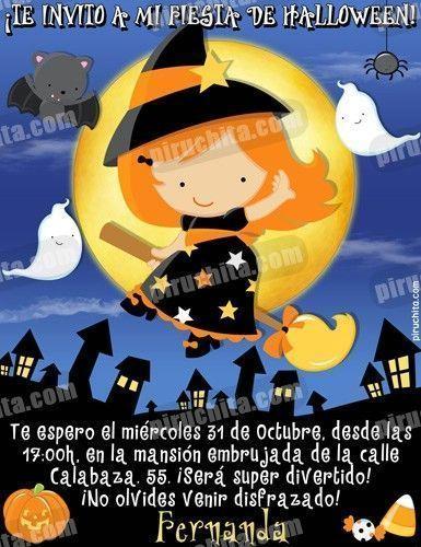 Invitación fiesta de Halloween #03-0