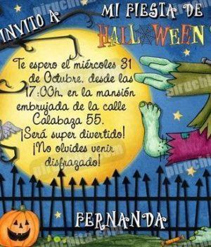 Invitación fiesta de Halloween #05-0
