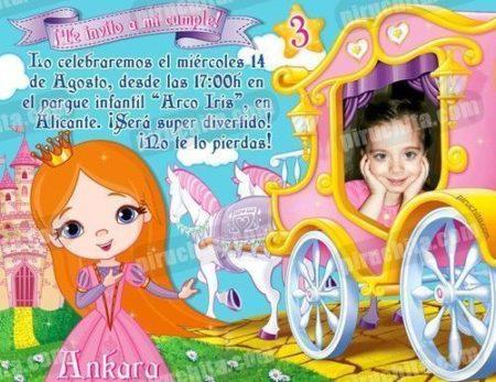Invitación cumpleaños Princesas #03-0