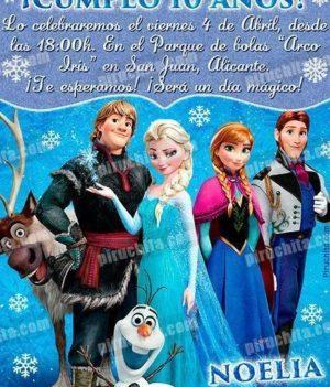 Invitación cumpleaños Frozen #10-0