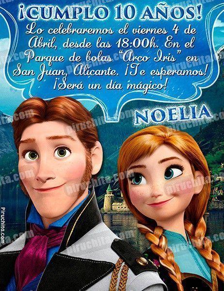 Invitación cumpleaños Frozen #06-0