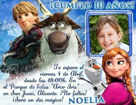 Invitación cumpleaños Frozen #07-0