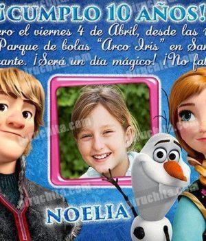 Invitación cumpleaños Frozen #08-0