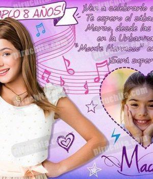 Invitación cumpleaños Violetta #01-0