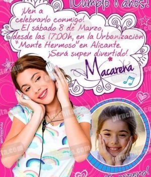 Invitación cumpleaños Violetta #02-0