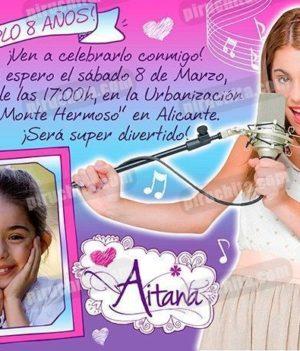 Invitación cumpleaños Violetta #04-0