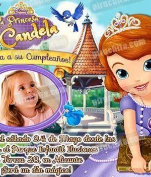 Invitación cumpleaños La Princesa Sofía #05-0