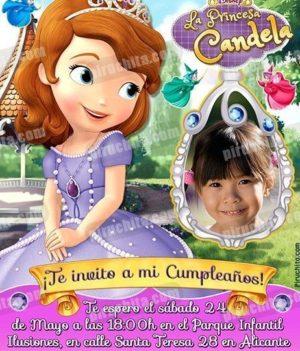 Invitación cumpleaños La Princesa Sofía #07-0