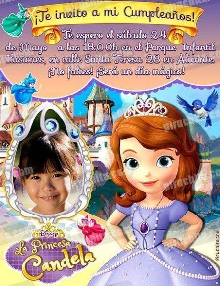 Invitación cumpleaños La Princesa Sofía #08-0