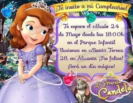 Invitación cumpleaños La Princesa Sofía #09-0