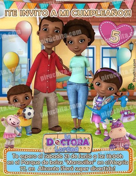Invitación cumpleaños La Doctora Juguetes #07-0