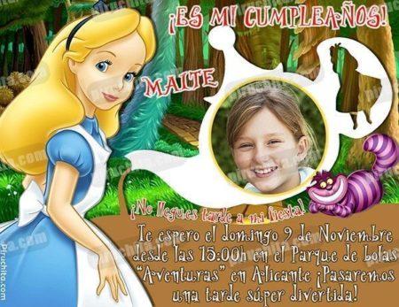 Invitación cumpleaños Alicia en el País de las Maravillas #04-0