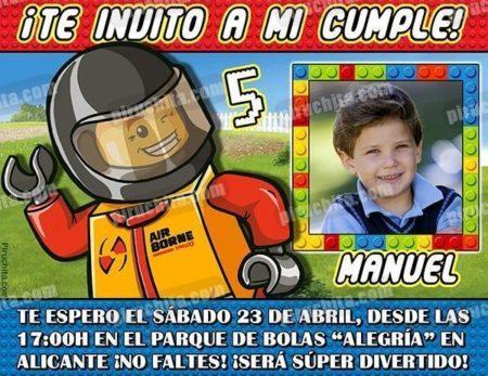 Invitación cumpleaños Lego #03-0