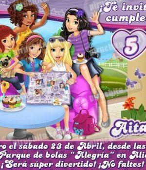 Invitación cumpleaños Lego Friends #02-0