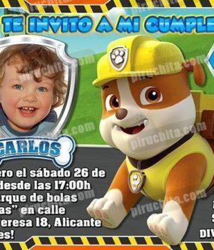 Invitación cumpleaños La Patrulla Canina #06-0