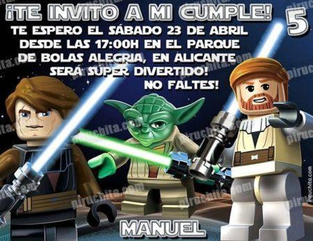Invitación cumpleaños Lego Star Wars #01-0