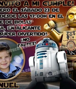 Invitación cumpleaños Lego Star Wars #05-0