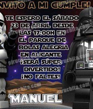 Invitación cumpleaños Lego Star Wars #06-0