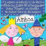 Invitación cumpleaños El pequeño reino de Ben y Holly #02-0