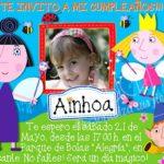 Invitación cumpleaños El pequeño reino de Ben y Holly #04 | Digital Imprimible
