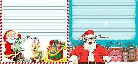 Carta para Papá Noel gratis para imprimir