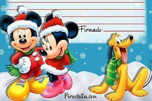 Carta Papá Noel de Mickey Mouse gratis