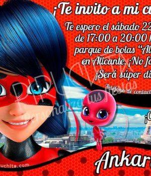 Invitación cumpleaños Ladybug / Prodigiosa #01 | Digital Imprimible