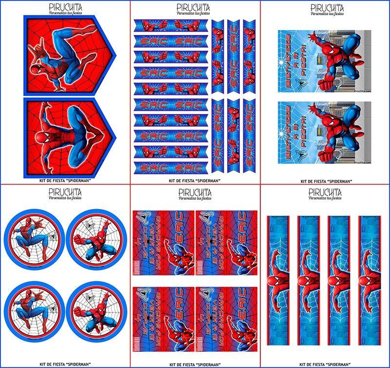 Decoración Fiesta De Cumpleaños Spiderman Para Imprimir Piruchita