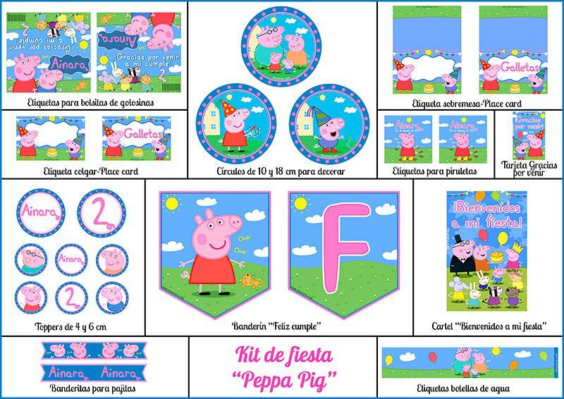 Decoracion Fiesta De Cumpleanos Peppa Pig Para Imprimir Piruchita