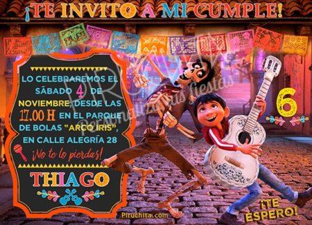 Invitación cumpleaños Coco #01 | Digital Imprimible