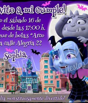 Invitación cumpleaños Vampirina #01 | Digital Imprimible