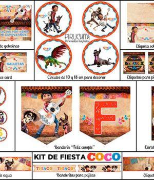 Decoración fiesta de cumpleaños Coco para imprimir