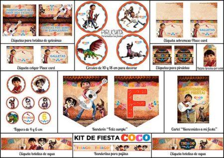 Invitación Cumpleaños Coco 01 Digital Imprimible Piruchita