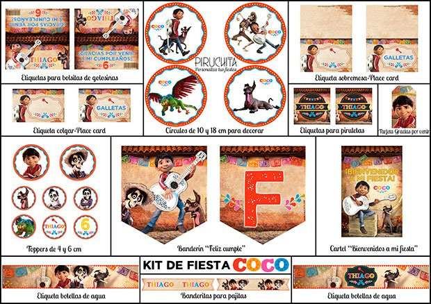 Decoracion Fiesta De Cumpleanos Coco Para Imprimir Piruchita