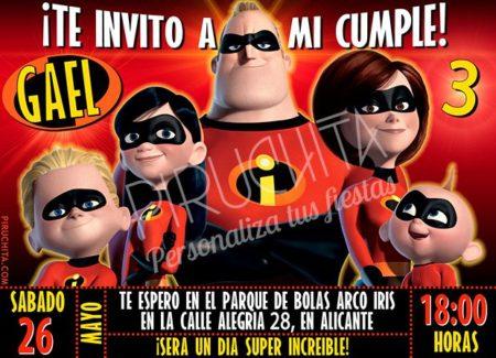 Invitación cumpleaños Los Increíbles #02 | Digital Imprimible
