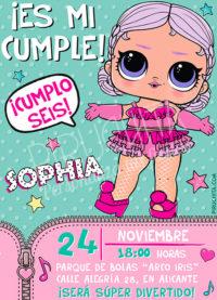Invitación cumpleaños LOL Surprise Muñecas #03 | Digital Imprimible