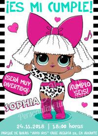 Invitación cumpleaños LOL Surprise Muñecas #04 | Digital Imprimible