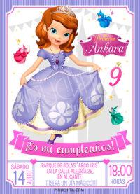 Invitación Cumpleaños Jasmine Aladdin 01 Digital