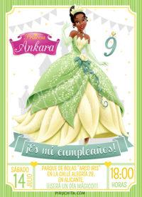 Invitación cumpleaños Tiana y el Sapo #01 | Digital Imprimible