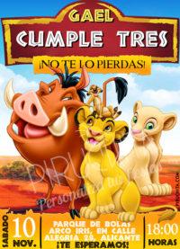 Invitación cumpleaños El Rey León #02 | Digital Imprimible